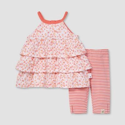 Burt's Bees Baby® Girls' Petal Rain Tunic and Capri Leggings Set - White