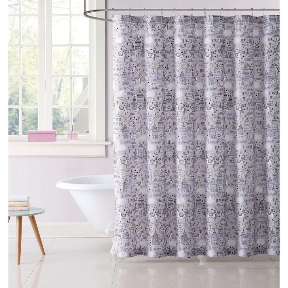 Unicorn Princess Shower Curtain - My World, Multi-Colored