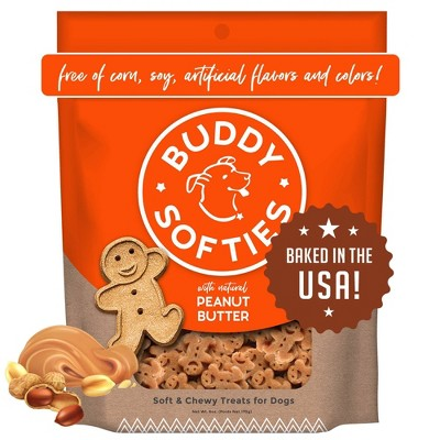 Buddy Biscuits Peanut Butter Soft and Chewy Dog Treats - 6oz
