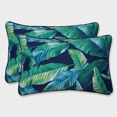2pk Hanalai Lagoon Rectangular Throw Pillows Blue - Pillow Perfect
