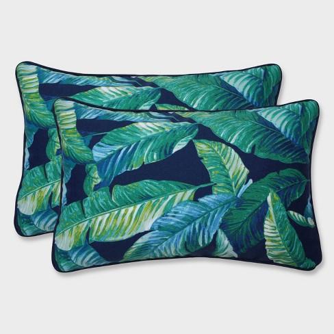 2pk Hanalai Lagoon Rectangular Throw Pillows Blue - Pillow Perfect - image 1 of 1
