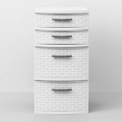 4 Drawer Med Weave Tower White Room Essentials Target