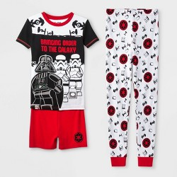 Boys' Lego Star Wars Tight Fit 3pc Pajama Set - Black