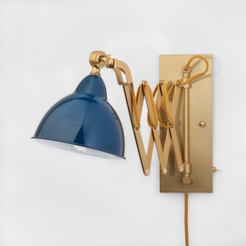 Accordian Wall Lamp - Blue - Threshold™ - image 1 of 4
