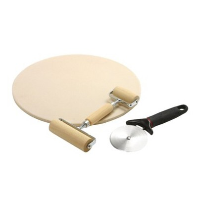 Baking Stone Pizza Making Set - 3 piece