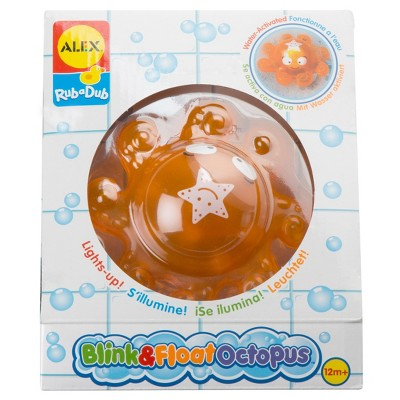 ALEX Toys Rub a Dub Blink & Float Octopus