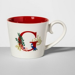 16oz Stoneware Monogram Mug - Opalhouse™