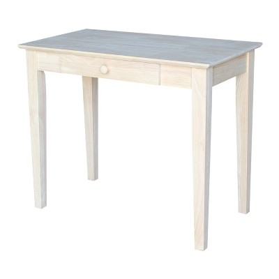 Solid Wood Writing Table Unfinished - International Concepts