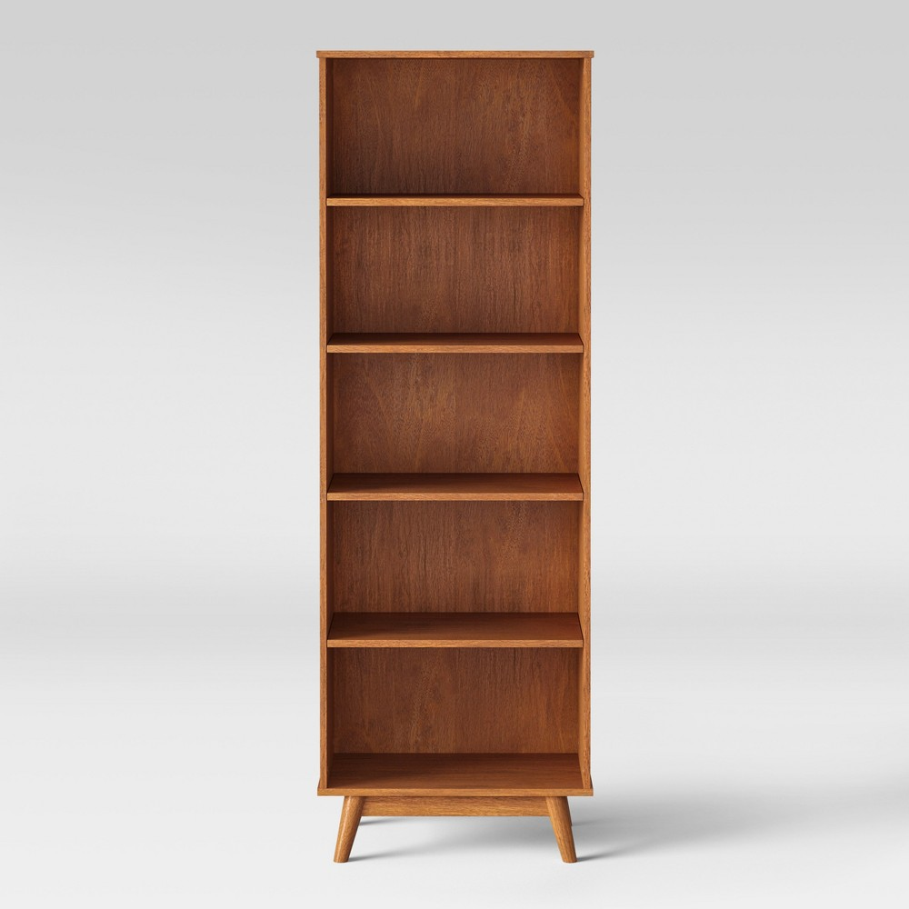72 Amherst Mid Century Modern 5 Shelf Bookcase Project 62 8482