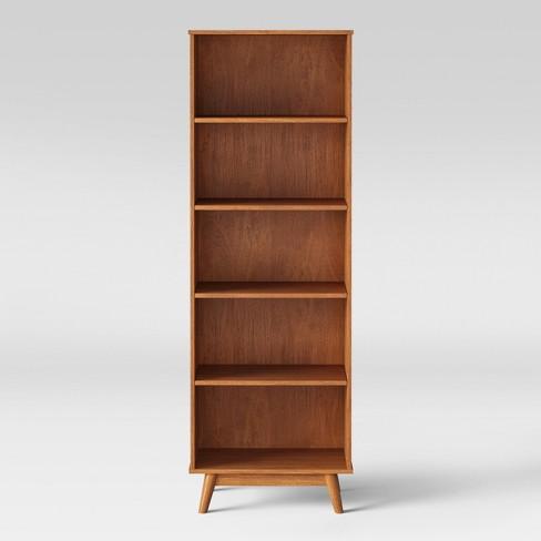 72 Amherst Mid Century Modern 5 Shelf Bookcase