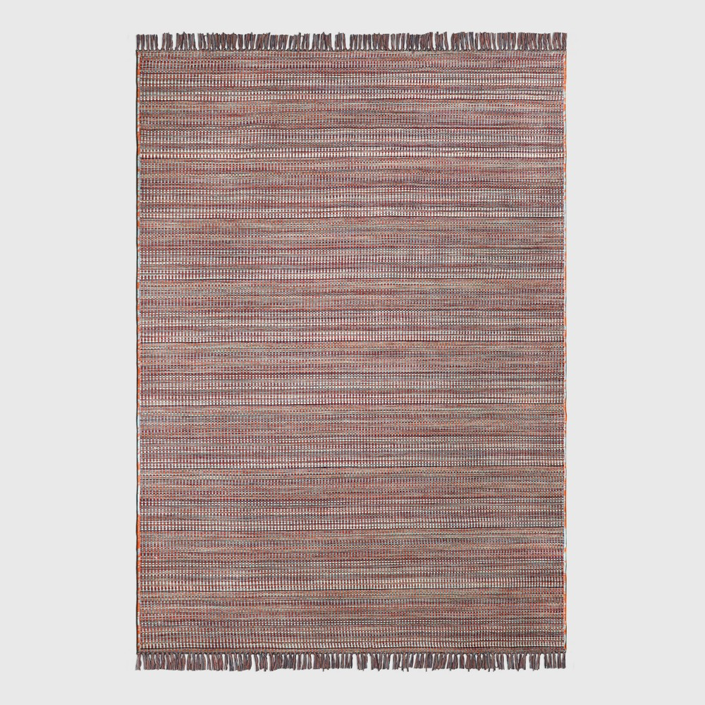 7' x 10' Woven Warm Outdoor Rug - Threshold, Multicolored