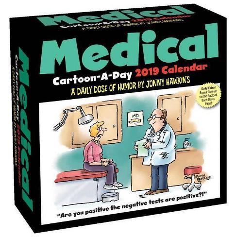Medical Cartoon-a-Day 2019 Calendar - by Jonny Hawkins (Paperback)