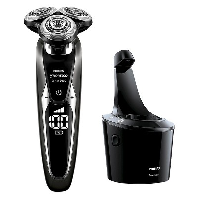 Philips Norelco Series 9700 Wet & Dry Men's Rechargeable Electric Shaver with Smartclean - S9721/84