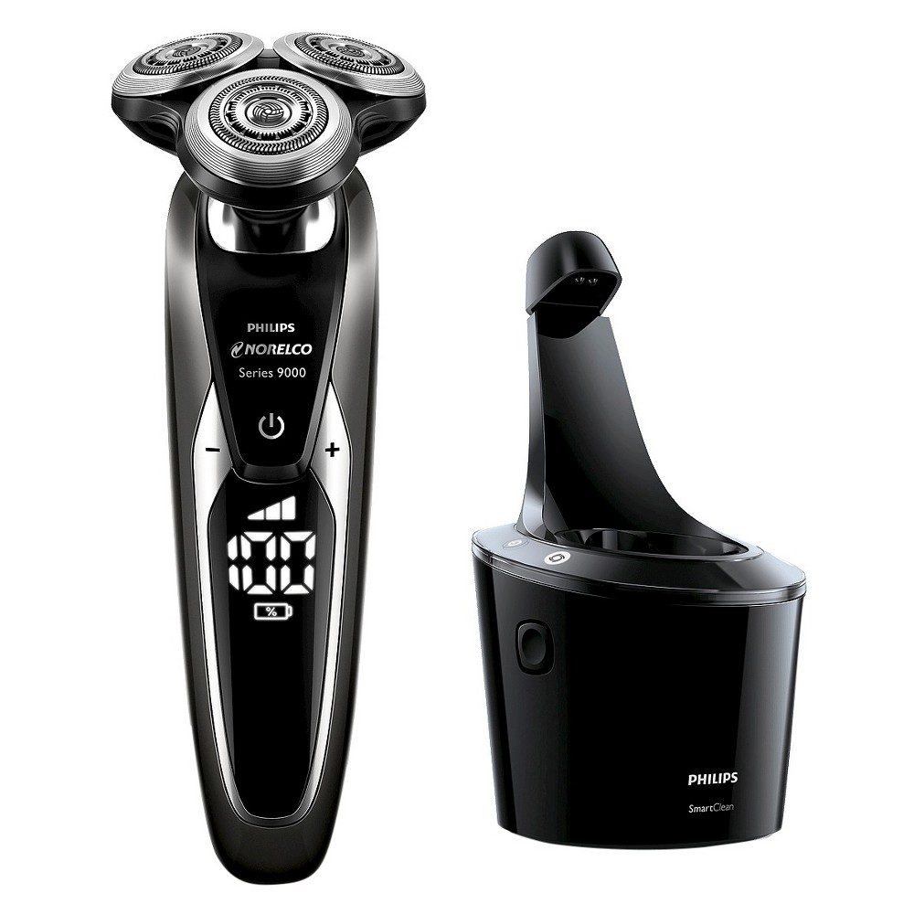 Image of Philips Norelco Series 9700 Wet & Dry Men's Rechargeable Electric Shaver with Smartclean - S9721/84
