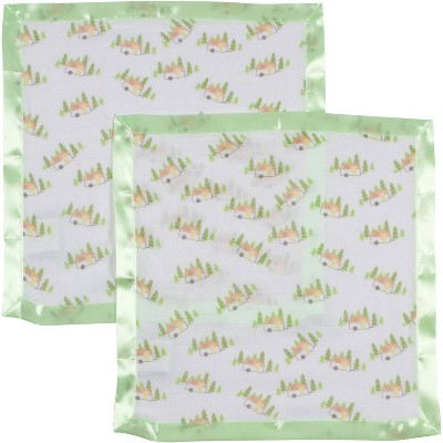 MiracleWare Camper Muslin Security Blanket - 2pk