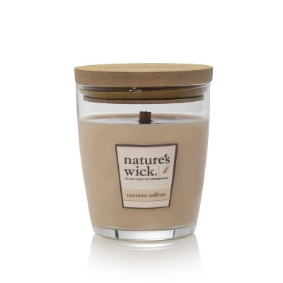 10oz Glass Jar Candle Coconut Saffron - Nature's Wick