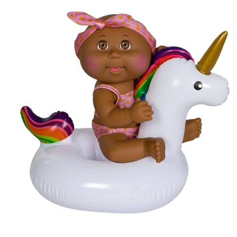 "Cabbage Patch Kids 9"" Deluxe Splash N' Float - Brown Eye Girl Unicorn - image 1 of 2"