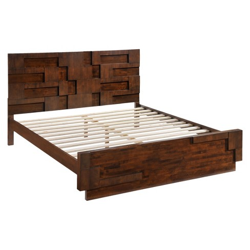 Mid-Century Modern Bed - Walnut - ZM Home - image 1 of 6