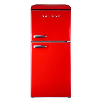 Galanz 4.0 cu ft True Freezer Dual-Door  Refrigerator  - Red