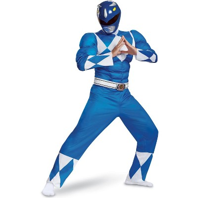 Power Rangers Blue Ranger Classic Muscle Adult Costume