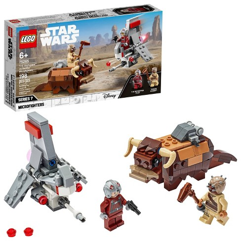 LEGO Star Wars: A New Hope T-16 Skyhopper vs Bantha Microfighters Collectible Toy Building Kit 75265 - image 1 of 4