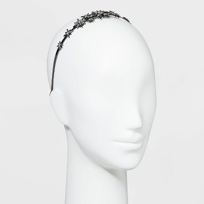 Metal Star with Crystals Headband - A New Day™ Black