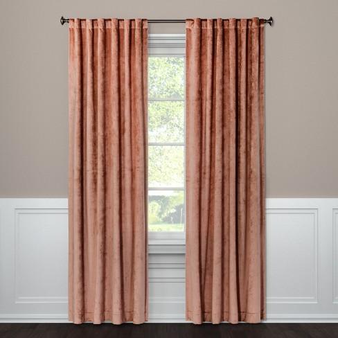108 X54 Curtain Panel Velvet Blush