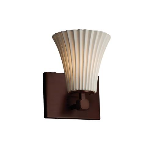 """Justice Design Group POR-8421-20-PLET-LED1-700 Limoges 6"""" Tetra 1 Light LED Wall Sconce - image 1 of 2"""