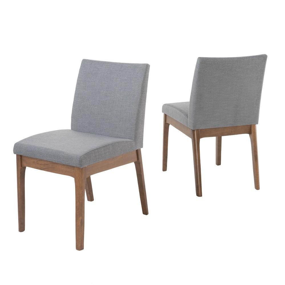 Kwame Dining Chair (Set of 2) - Dark Gray/Walnut (Dark Gray/Brown) - Christopher Knight Home