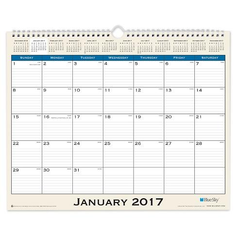 "2017 Journey Wall Calendar (15""x12"") - Blue Sky - image 1 of 1"