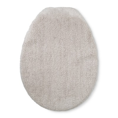 Tufted Spa Elongated Toilet Lid Cover Tan - Fieldcrest®