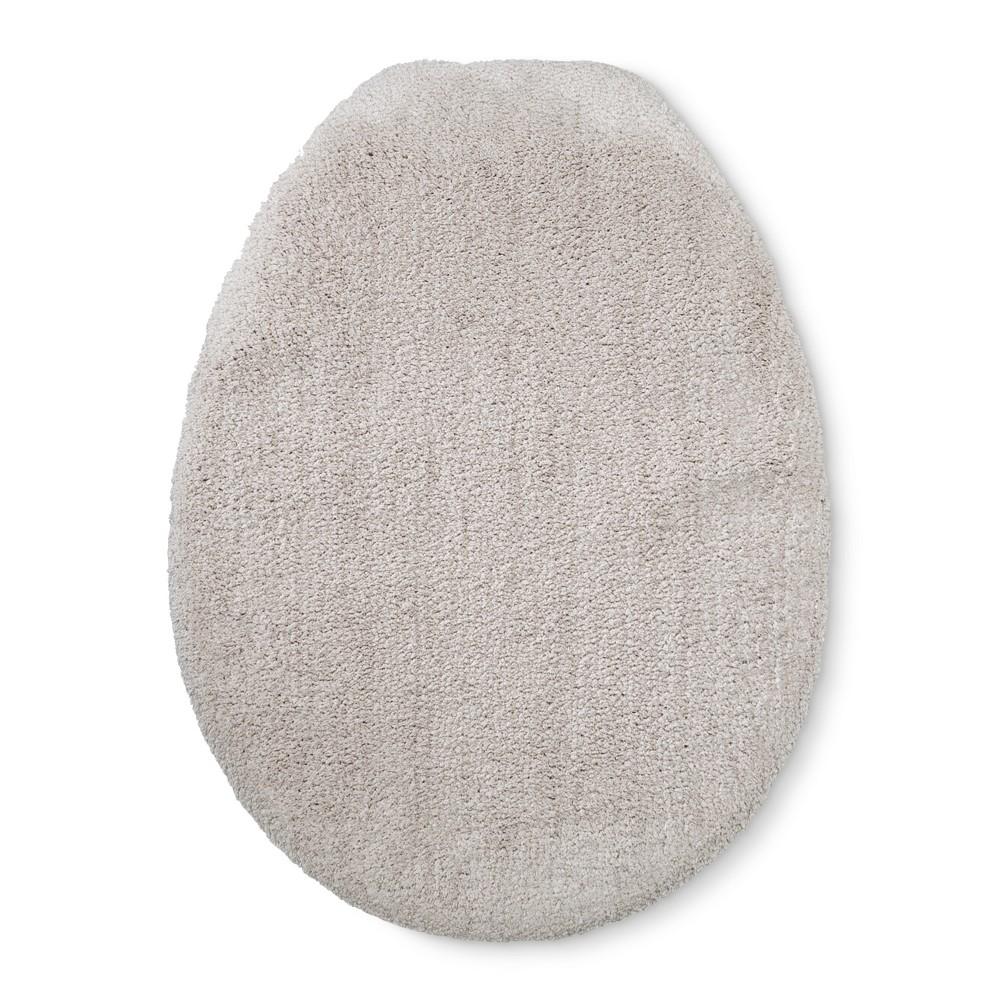 Tufted Spa Toilet Lid Cover Elongated Beige Linen - Fieldcrest