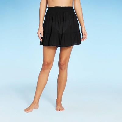 Juniors' Smocked Ruffle Cover Up Skirt - Xhilaration™