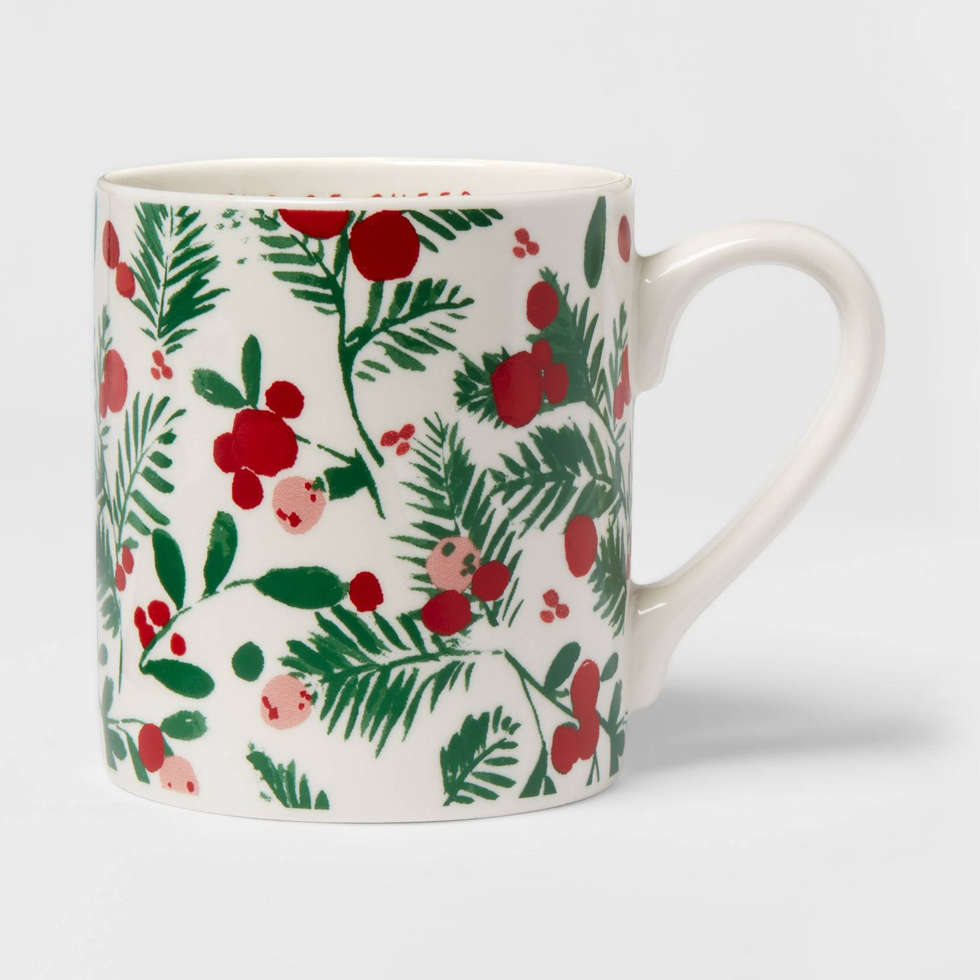 16oz Stoneware Cup Of Cheer Christmas Mug White - Threshold™ - image 1 of 6