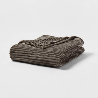 Ribbed Plush Bed Blanket - Room Essentials™