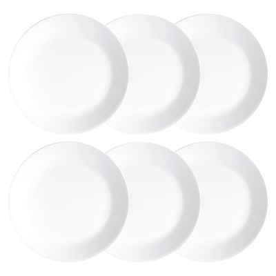Corelle Vitrelle Dinner Plates 10.8  White - Set of 6