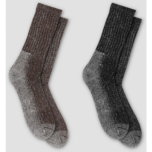 Men's Outdoor Midweight Wool Blend Crew Socks 2pk - C9 Champion® 6-12 - image 1 of 3