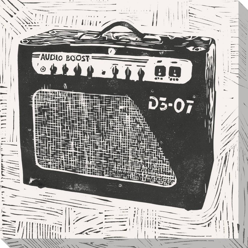 Image of Rock & Roll Amplifier Unframed Wall Canvas Art - (20X20)