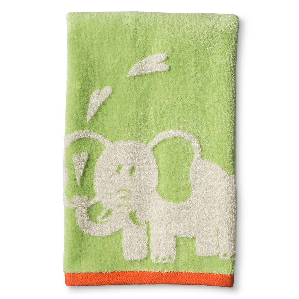 Image of Zoo Wash Towels Green - Cassadecor, Size: Washcloth