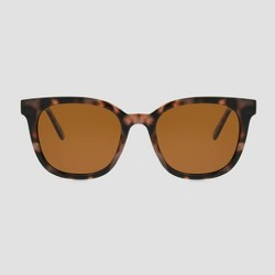 Women's Tort Surf Plastic Sunglasses - A New Day™ Brown