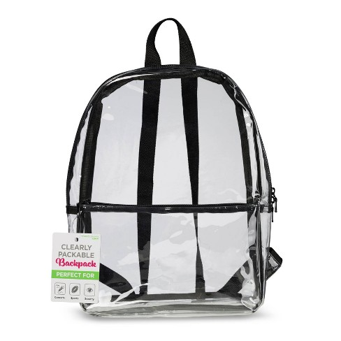 Travel Smart by Conair 17.5'' Backpack - Clear - image 1 of 3