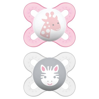 MAM Start Pacifier, 0+ Months - 2ct Pink/Purple