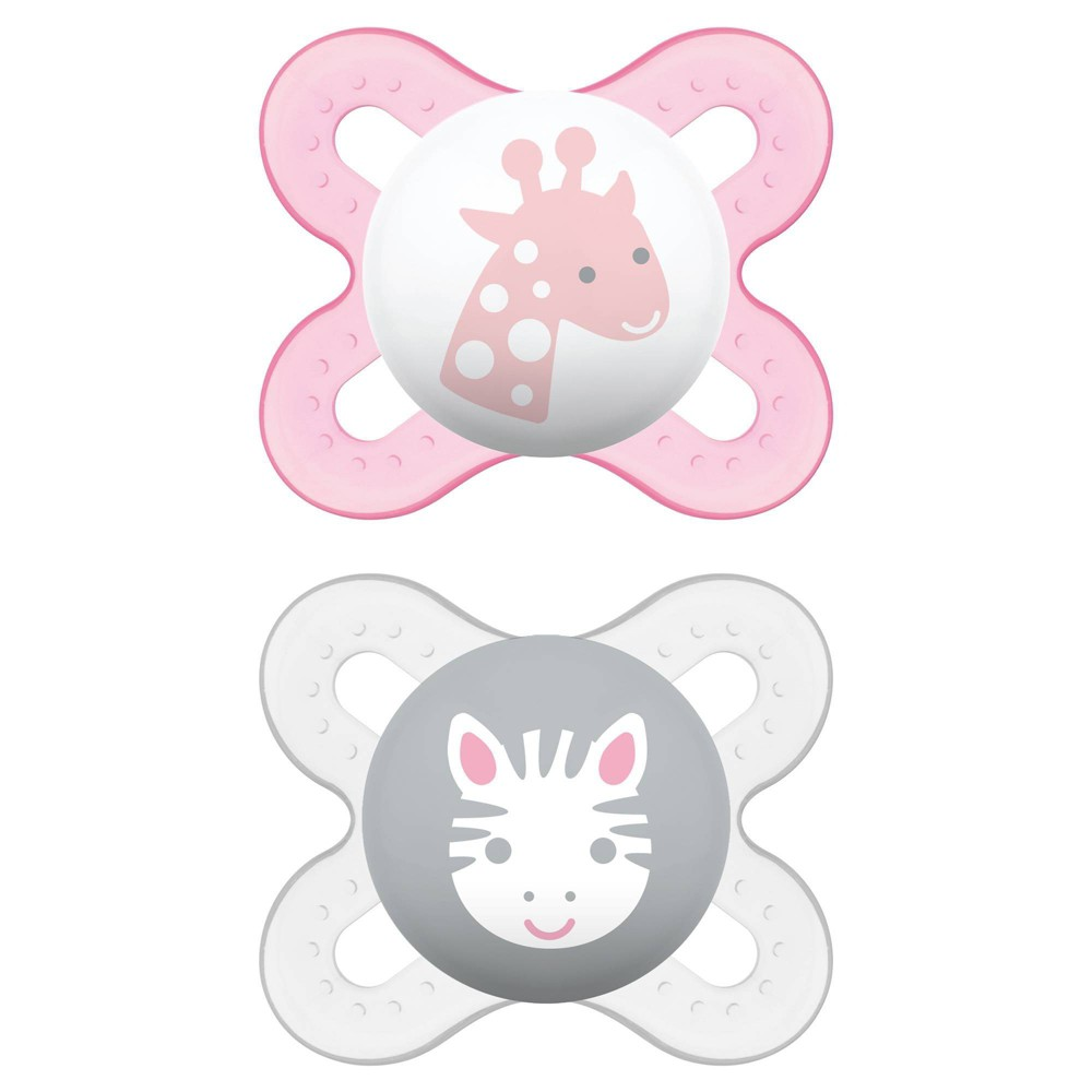 Image of MAM Start Pacifier, 0+ Months - 2ct Pink/Purple