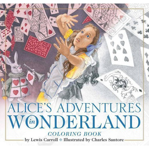 The Alice in Wonderland Coloring Book - (Classic Edition) by  Lewis Carroll (Paperback) - image 1 of 1