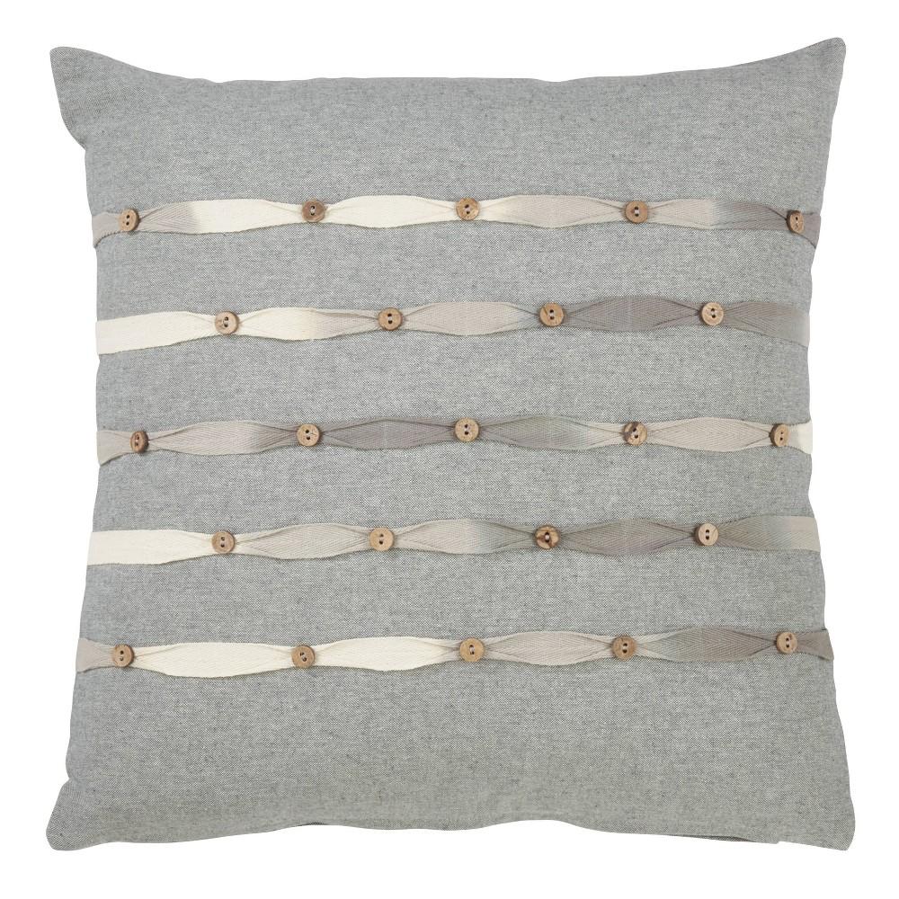 Down Filled Button Work Pillow Saro Lifestyle