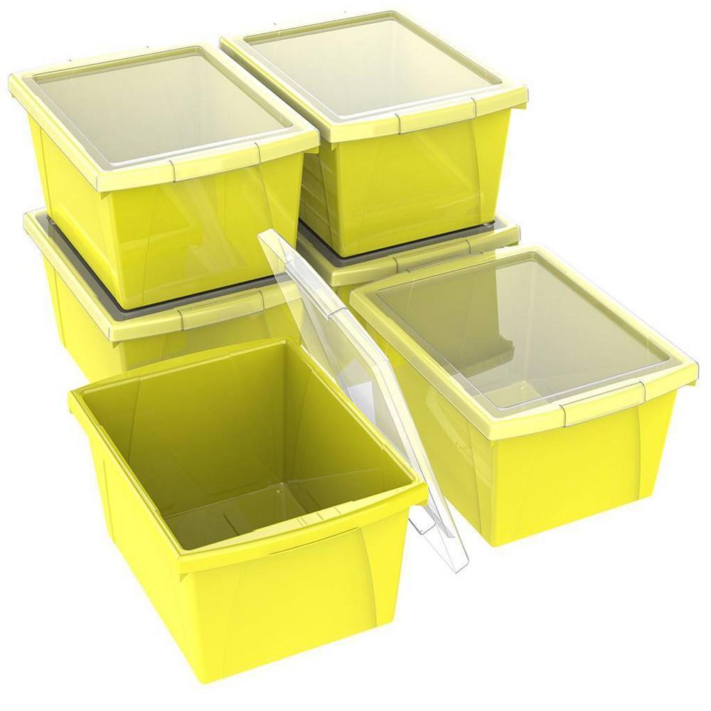 Best Buy Storex 4gal Classroom Storage Bin With Lid Yellow