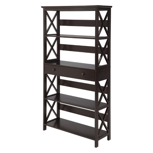 "59.75"" Oxford 5 Tier Bookcase with Drawer Espresso - Johar - image 1 of 4"