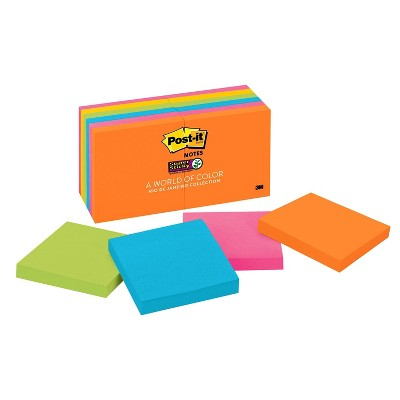 """Post-it Super Sticky Notes 3/"""" x 3/"""" Electric Blue 90 Sheets//Pad 258340"""