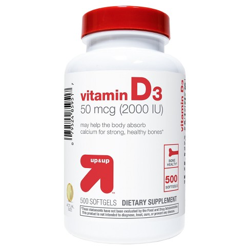Vitamin D3 Dietary Supplement Softgels - up & up™ - image 1 of 3