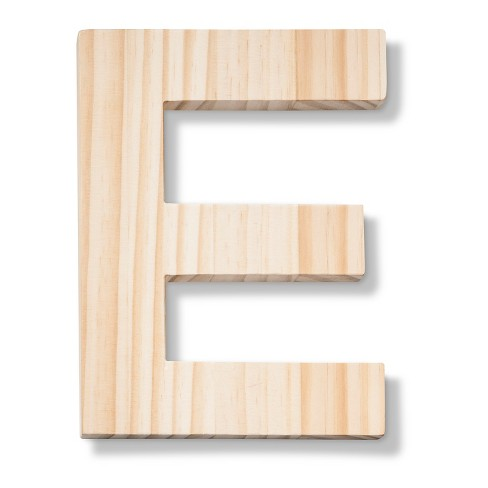 Hand Made Modern - Wood Letter Large - E - image 1 of 3